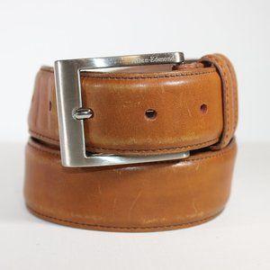 Allen Edmonds Tan Men's Leather Belt, Made in USA